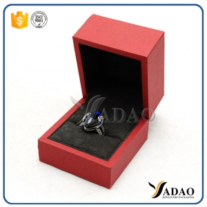 red color pu paper cover plastic jewelry packaging box ring pendant bangle bracelet packaging box jewelry plastic box high quality with thicker border
