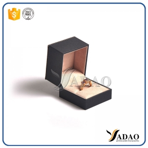 samll high quality color customize leather+paper jewelry box for engagement