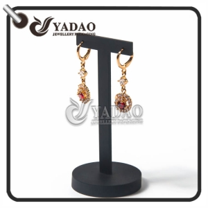 simple long-lasting small CBM comfortable universal exquisite luxury mdf +lacquer finish/velvet/leatherette paper earring display stands