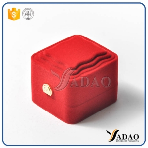 small size delicate lovely tempting  custom adoreable romantic flocking box for earring/ring/necklace/pendant/watch packaging