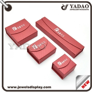 special designed  lining surface red paper boxes jewelry box