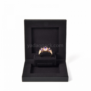 thin ring box new design ring box with customized materialjewel
