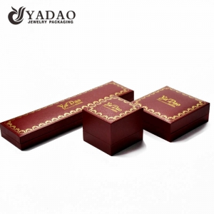 unique custom wholesale handmade dark color plasitc box with hot stamping logo earring box/ ring box /necklace box
