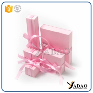 unique custom wholesale handmade pink cardboard paper box with hot stamping logo earring box/ ring box /necklace box