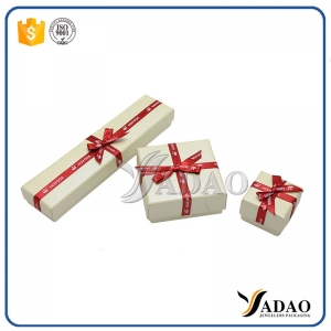 various style of lid-off jewelry paper box sets with ribbon used for pendant,bracelet,earring,watch,necklace,bangle
