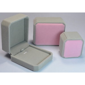 velvet cover plastic box customize finish jewelry box pendant jewels packaging box plastic high quality