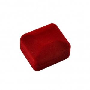 velvet flocking jewelry red box for ring