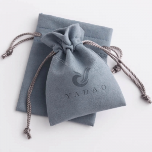 Yadao elegant microfiber pouch for jewelry packaging with drawstring closure and free logo printed