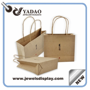 wholesale customed logo design popular shopping bags for jewelry gift packing durable paper handbag made in china
