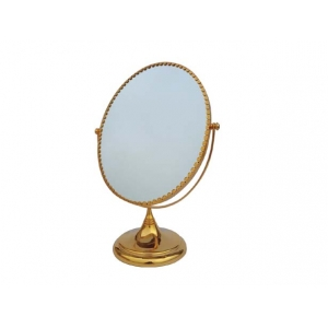 wholesale fashionable silver or gold or bronze standing mirror for dressing table or jewelry shop