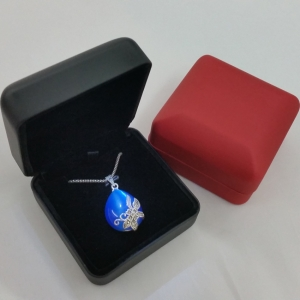 wholesale high quality black and red led jewelry box for ring and pendant storage by chinese manufacturer
