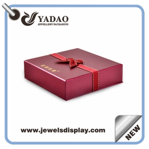 wholesale logo printed custom made paper jewelry box