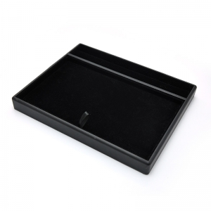 wooden display tray jewelry display serving tray movable display pad for jewels selection