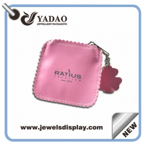 China 2015 New design jewelry leather pouch with Zipper for jewelry packaging,Small jewelry pouch wholesale price factory