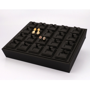 China 2017 new fashion unique design jewelry display tray with high quality leatherette factory