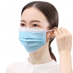 China 3ply disposable earloop medical surgical coronavirus face mask factory