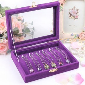 China Beautiful and fashion jewelry display cases storage for necklace watch bracelet with custom design factory