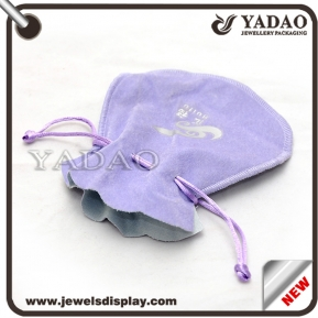 China Compact and convenient jewelry velvet bag for jewelry packaging stand up pouch factory