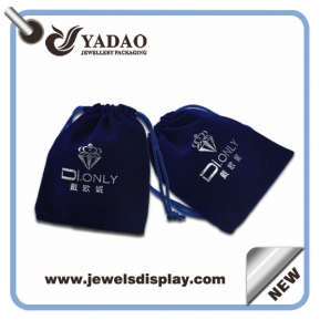 China Compact jewelry velvet pouches accept customization factory
