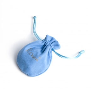 China Custom Blue Velvet Drawstring Pouch for Jewelry Packaging with Double Layers Inner factory