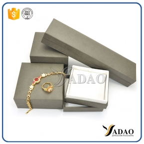 China Custom Logo Cheap Printed Small Leatherette Paper Jewelry Box/Ring Box/Necklace Box Gift Packaging Boxes wholesale factory