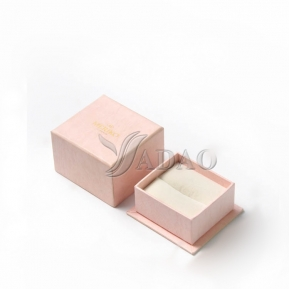 China Custom logo printed handmade wholesale blush pink cardboard paper jewelry gift packaging ring box with seperate lid factory