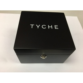 China Custom made high end wooden watch box with logo printing on both inside and outside. factory