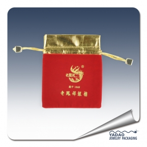 China Custom printed jewelry pouches mini jewelry pouch bag jewelry pouch with logo factory