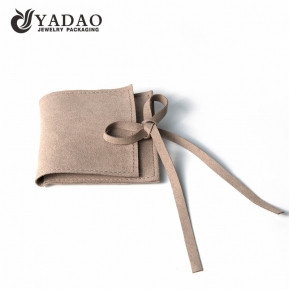 China Customized handmade microfiber jewelry package pouch with logo priniting popular in Europe and USA. factory