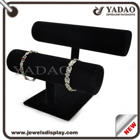 China Customized velvet jewelry display stand for T-bar display from China factory