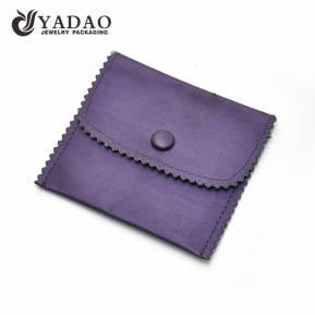 China Customized velvet pouches for jewelry pouches with logo factory