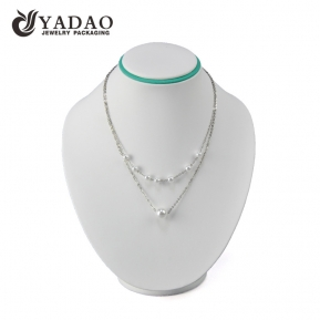 China Design and customize white color necklace jewelry pendant display stand factory