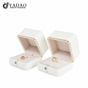 China Elegance clean color LED light jewelry box for jewelry or delicate gift factory