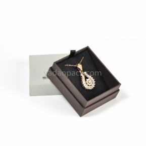 China Elegant cardboard jewelry box with seperated lid (custom size/color/logo) factory