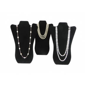 China Fashion hot selling velvet jewelry display for necklace bust from China factory