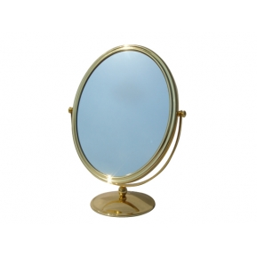 China Gold Plated Standing Mirror With Oval Shape for jewelry mirror factory