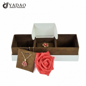 China Handmade Custom size/logo/color wholesale cardboard jewelry collection box for ring and pendant factory