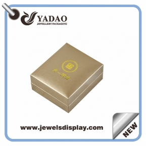 China Handsome decent jewelry packing gift boxes watch box bangle box made by plastic with pu paper/pu leather factory