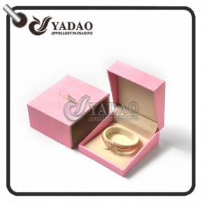 China High end customized bangle box with high quality sleeve for golden bangle and diamond bangle. factory