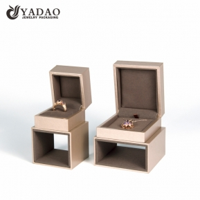 China High end whole sale ring/necklace jewelry boxes for women factory
