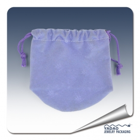 China High quality Purple Suede jewelry gift bag factory