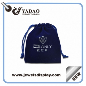China High quality custom velvet gift bags /velvet gift pouches/ velvet drawstring pouch bag factory