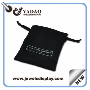China High quality reuseable jewelry pouch bags,wholesale packaging pouch bag with screen printing logo factory