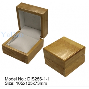 China Hot sale elegant lacquered wooden soft pillow inside watch box packaging factory