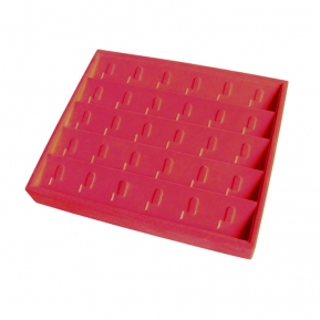 China Hot selling jewelry display trays for red with clip which can 30 rings factory