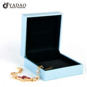 China Ins style new design customized elegance color jewelry box with logo printed for wedding gift and jewelry factory