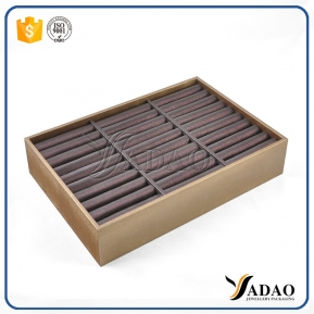 China Luxury custom handmade good quality favorable price mdf+velvet/letherette jewelry display tray  for bangles/bracelet from Yadao factory