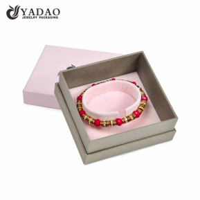 China Manufacture pink bangle paper box customize with logo for girl factory