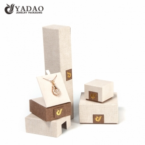 China Natural hot-selling fashion-designed  handmade customized beige fancy paper  jewelry box sets factory