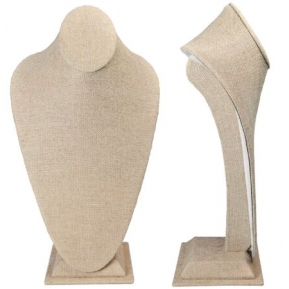 China Necklace Standing Bust Displays,Necklace Jewelry Holder, Linen Pendant Display Stands Jewelry Display Supplier factory